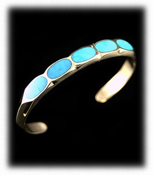 Gold and Turquoise Southwestern Jewelry bracelet