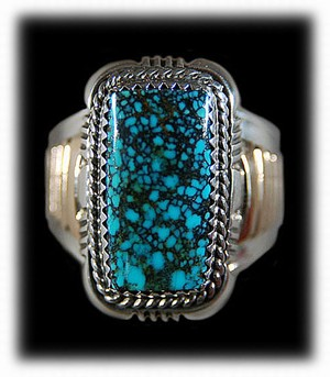 Indian Jewelry ring by Native American Jeweler Denetdale